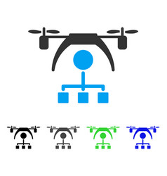 copter distribution scheme flat icon vector image vector image