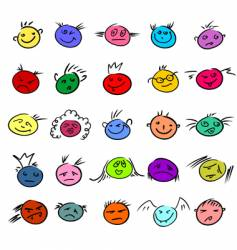 expressions vector image