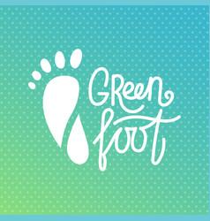 green foot health center logo orthopedic eco vector image vector image
