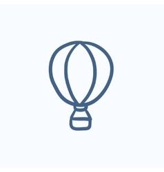 Hot air balloon sketch icon vector image
