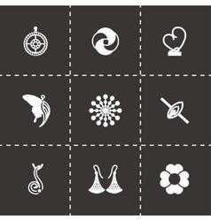 Jewellery icon set vector image