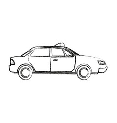 police car radio mobile patrol with rooftop vector image
