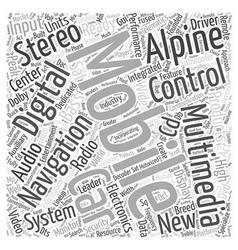 Alpine car stereo word cloud concept vector