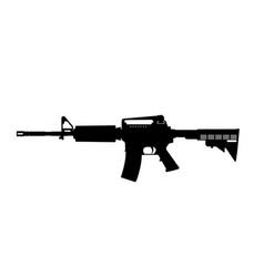 black silhouette of machine gun vector image