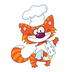 Cat the cook vector image vector image
