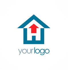 house arrow logo vector image vector image