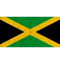 Jamaica paper flag vector image