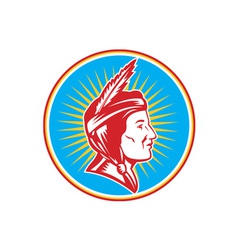 Native American Indian Squaw Woman vector image