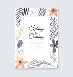 Watercolor Floral Card vector image