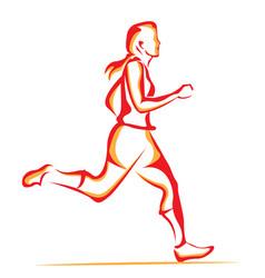 woman running vector image