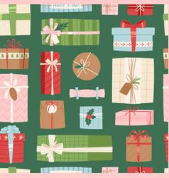 gift box present packs christmas or vector image