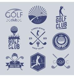 Golf club label vector