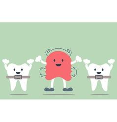 Orthodontics braces and orthodontics teeth vector