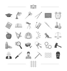 punishment teaching education and other web icon vector image vector image