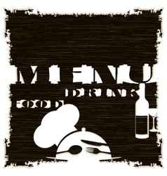 restaurant menu template pattern dark vector image