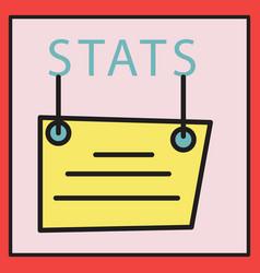 Statistics icon infographic chart symbol modern vector