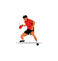 Table tennis sign vector image vector image