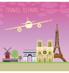 Travel to Paris 04 A vector image