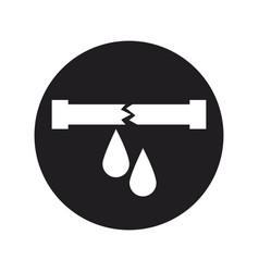 water leak icon pipe broken plumbing vector image