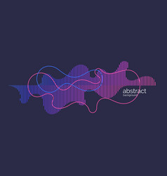 Abstract background with dynamic waves and vector