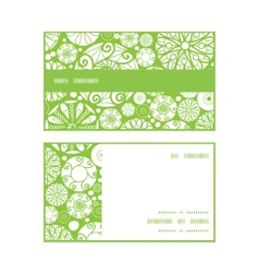 abstract green and white circles horizontal stripe vector image