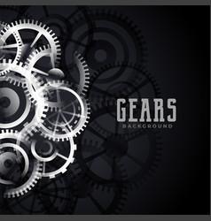 abstract metallic gears background design vector image