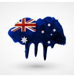 Australian flag painted colors vector