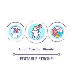 Autism spectrum disorder concept icon vector