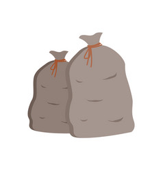 bags with harvested veggies packages set vector image