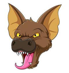 bat head mascot vector image