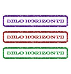 belo horizonte watermark stamp vector image