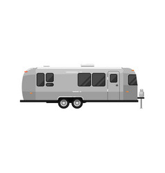 Big camping rv trailer isolated on white icon vector