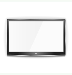 Black LCD TV Screen vector image