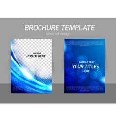 Blue flyer template design vector image