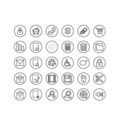 Button icon set vector