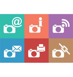 camera web icons set vector image
