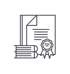 certification line icon concept certification vector image