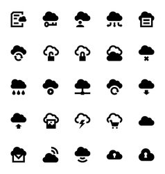 Cloud Data Technology Icons 1 vector image