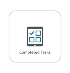 Completed Tasks Icon Business Concept Flat vector image