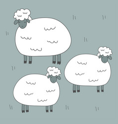 cute print with sheep vector image