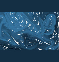 dark blue digital marbling elegant marbled vector image