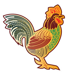 decorative rooster vector image