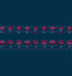 Deep blue and red pattern design elements vector