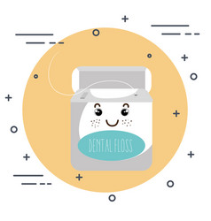 Dental care kawaii comi character vector