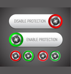 design a round and rectangular button with vector image
