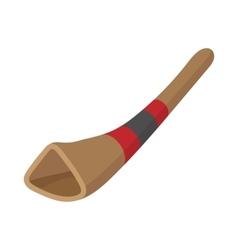 Didgeridoo australian musical instrument vector image
