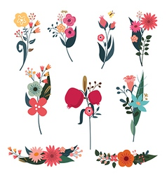 Elegant bouquets set vector image