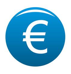 euro symbol icon blue vector image
