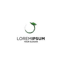 flying bird cannabis logo vector image
