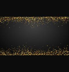 golden confetti border background falling vector image